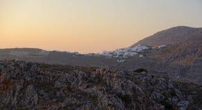 Chora village at sunset stock photo