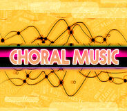 Choral Music Means Sound Track And Choirs Royalty Free Stock Images