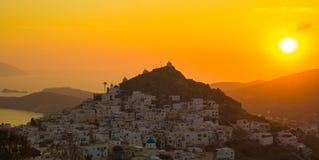 Chorastad, Ios eiland, Egeïsche Cycladen, Griekenland Stock Foto's