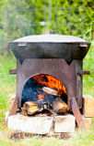 chorba που μαγειρεύει kazan τη σούπα Στοκ φωτογραφία με δικαίωμα ελεύθερης χρήσης