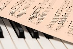 Chords Sheet on Piano Tiles Stock Image