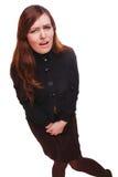 Chorej kobiety brzuszny ból i biegunki pęcherzowy cystitis chcemy th Fotografia Stock