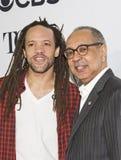 Choreograf Savion Glover und Direktor George C wolfe Stockfotografie