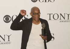 Choreographer Bill T. Jones Exults at 64th Tonys in 2010. Choreographer Bill T. Jones is jubilant as he celebrates his victory in the Media Room during the 64th Stock Photography
