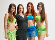 Choreographer with her dancers Stock Image