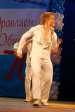 Choreographic miniature in the style of 60-ies - dancers performing troupe of the St. Petersburg music hall. Stock Photos