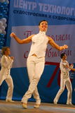 Choreographic miniature in the style of 60-ies - dancers performing troupe of the St. Petersburg music hall. Stock Images