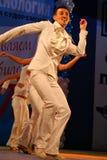 Choreographische Miniatur im Stil 60 IES - Tänzer, die Truppe des St- Petersburgauditoriums durchführen Stockbild