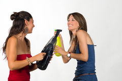 Chores battle Stock Photo