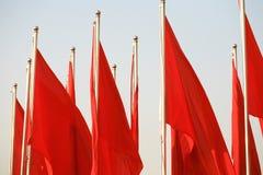 chorągwiana czerwień Fotografia Stock