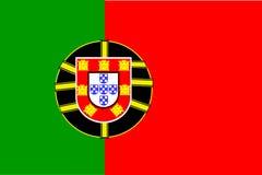 chorągwiany Portugal Zdjęcia Stock