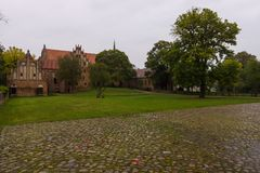 Chorin Abbey is the former Cistercian abbey near the village of Chorin in Brandenburg, Germany. Founded in 1258 Stock Image