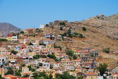 Chorio village, Symi island Royalty Free Stock Images