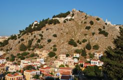 Chorio village, Symi island Stock Images