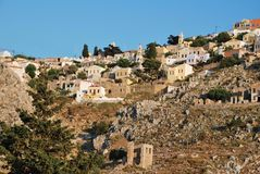 Chorio village, Symi island Royalty Free Stock Image