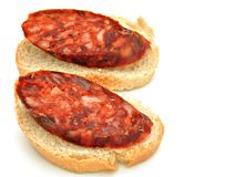 Chorizo ​​sliced ​​ Royalty Free Stock Photos
