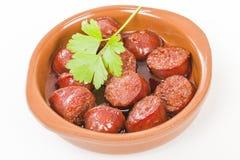 Chorizo ένα Λα Sidra Στοκ Εικόνες