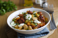 Chorizo και φασολιών stew Στοκ φωτογραφία με δικαίωμα ελεύθερης χρήσης