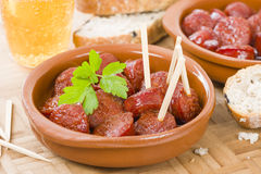 Chorizo A La Sidra Royalty Free Stock Images
