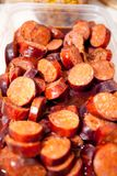Chorizo al vino Stock Photo
