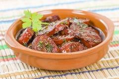 Chorizo al Vino Stock Images