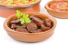Chorizo al Vino Royalty Free Stock Images