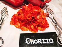 Chorizo bufet hotel obraz royalty free