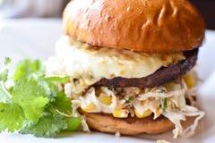 Chorizo Burger Στοκ Φωτογραφία