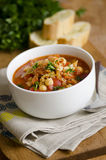 Chorizo and chickpea soup Stock Photo