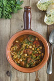 Chorizo and chickpea soup Royalty Free Stock Images