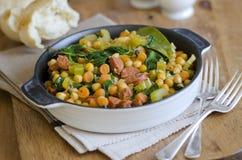 Chorizo and chickpea stew Stock Image