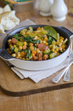 Chorizo and chickpea stew Royalty Free Stock Images