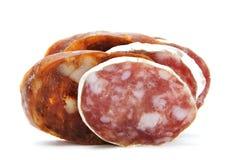 Chorizo e salami espanhóis imagens de stock
