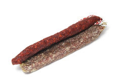 Chorizo and fuet Royalty Free Stock Image