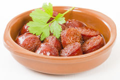 Chorizo a la Sidra Royalty Free Stock Image