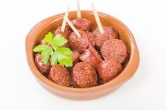 Chorizo a la Sidra Royalty Free Stock Photo