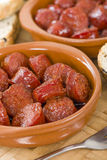 Chorizo a la Sidra Stock Photography