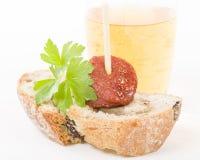 Chorizo a la Sidra Stock Photography