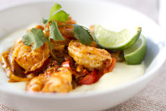 Chorizo Lime Shrimp Royalty Free Stock Photo