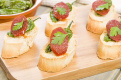 Chorizo & Padron Peppers Pinchos Royalty Free Stock Photo
