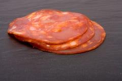Chorizo Plakken Stock Foto's