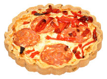 Chorizo Quiche Stock Photography