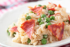 Chorizo with rice Stock Images