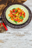 Chorizo salad Royalty Free Stock Image