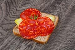 Chorizo sandwich Stock Image
