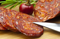 Chorizo sausage Royalty Free Stock Images