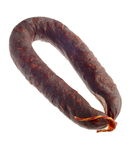 Chorizo Sausage Coil Royalty Free Stock Photography