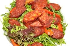 Chorizo Sausage Salad Stock Photos