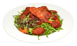 Chorizo Sausage Salad Stock Photography