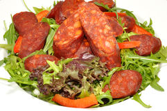 Chorizo Sausage Salad Stock Image